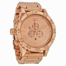 Nixon Chronograph Rose Gold-Tone Stainless Steel Mens Watch A083897