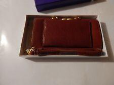 Lee Sands Ladies Burgundy Eelskin Framed Organizer Wallet with RFID
