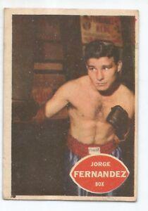 JORGE FERNANDEZ Nº 99 1965 ORIGINAL BOXING CARD