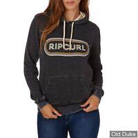 New Womens Ladies Rip Curl Pixley Fleece Hoody Logo Athletic Hoodie