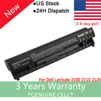 For DELL LATITUDE 2100 2110 2120 RECHARGEABLE 58WH LAPTOP BATTERY 4H636 USA