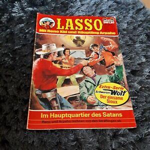 LASSO Nr. 617 mit Schwarzer Wolf Story, schöner BASTEI Western-Comic 1980