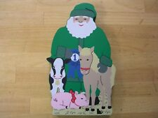 Cat's Meow wooden collectible 2003 County Fair Santa retired