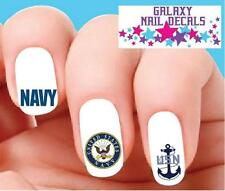 Waterslide Nail Decals - Set of 20 Usn United States Navy Assorted
