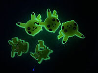 Glow In Dark Pikachu Lot Of 5 Shoe,Bracelet & Lace Charms Fit NameCroc Shoe