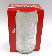 COLLECTIBLE COCA COLA COKE DRINKING GLASS TUMBLER CAN SHAPED MADE IN FRANCE RARE