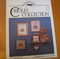 THE CRICKET COLLECTION  #8   CROSS STITCH  LEAFLET