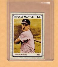 Mickey Mantle '50 Joplin Miners rare minor league card, Superior Card Co.