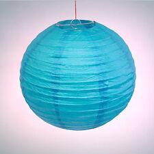 "2 X 8"" Blue Chinese/Japanese Paper Lantern Light Lampshade Wedding Party Deco"