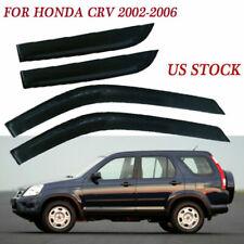 ABS Monsoonshield Side Window Visor For Honda CRV 2002 2003 2004 2005 2006
