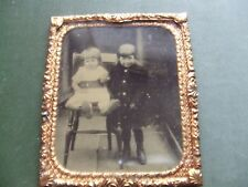 VICTORIAN AMBROTYPE. FAMILY PHOTOGRAPH WITH A GILT FRAME   NICE CONDITION.