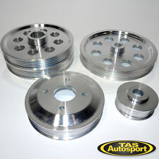 Lightweight Toyota Pulley Kit for Levin AE92 AE95 AE101 AE111 4pc Silver 4AGE