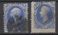 US Sel # O41 & # O45 used,Navy Dept stamps cv = $420