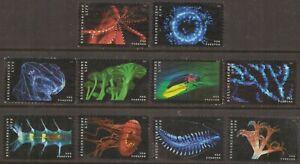 Scott #5264-73 Used Set of 10, Bioluminescent Life (Off Paper)