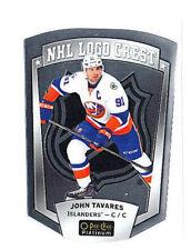 John Tavares 2016-17 O-Pee-Chee Platinum, NHL Logo Crest, Die-Cut !!