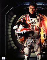 Matt Damon Signed Autographed 11X14 Photo The Martian w/Helmet GV848420