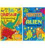 2 x Boys Girls Kids Children A4 My Monster/Alien & Big Dinosaur Colouring Books