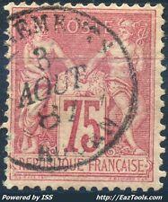 FRANCE SAGE N° 81 OBLITERATION CHARGEMENTS ROUEN 03/08/1887 COTE 150€  A VOIR