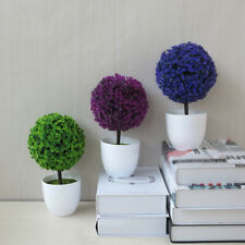 Artificial Flower Ball Topiary Tree Bonsai Potted Plants Fake Plastic Ornaments