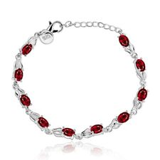 #BN157 14K Yellow Gold Natural Ruby Round Bead Bracelet