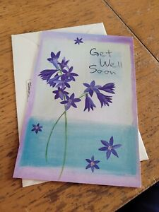 Get well soon card NEW - flowers