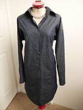 EMPIRE ROSE Prep Shirt DRESS Size XS 8 Denim-Look Pockets Long Sleeves Designer