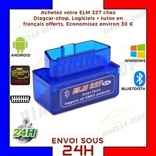 ELM OBD2 Bluetooth Car Diagnostic Scanner CAN-BUS ANDROID FR VAG COM Mini Neuf