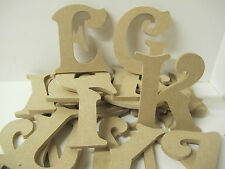WOODEN LETTERS A-Z Premium Quality 200mm high 6mm thick Victorian Font