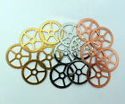 Steampunk Watch pieces parts gears cogs wheels - 15 Brass, Silver, Copper 25mm