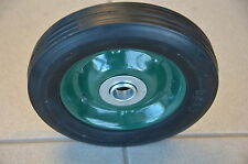 """4 of 6"""" x 1.5"""" FLAT FREE SOLID RUBBER TROLLEY  WHEEL WITH STEEL RIM"""