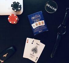 Monaco Elite 100% Premium Plastic POKER Playing Cards. -Waterproof- Blue
