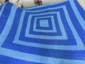 "Large Hand Crochet 90"" X 90"" (228cm x 228cm) Medium Weight Blanket / Throw"