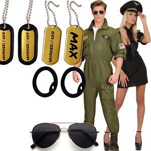 Flieger Overall Jet Pilot Anzug Fasching Karneval Kostüm Kampfpilot Verkleidung