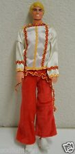 Nice Vintage 1980s Roller Ken Doll Mattel Blonde Red White Spanish Clothes Htf