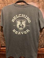 Belching Beaver Brewery San Diego ~ Men's Xl ~ 2 Sided Gray Beer T Shirt