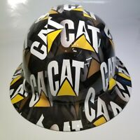 NEW FULL BRIM Hard Hat custom hydro dipped CAT CATERPILLAR SPECIAL EDITION