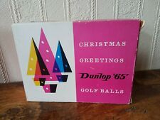 12 Vintage Wrapped Dunlop 65 Golf Balls In Box And Christmas Sleeve