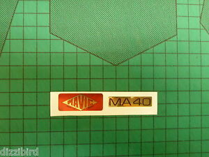 VINTAGE MAVIC MA40 Rim decals, 'Red' version- perfect for renovations