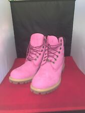 Timberland 6 Inch Premium Boot TB0625A Pink breast Cancer Awareness SIZE 9.5