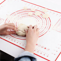 Silicone Rolling Baking Mats Sheet Pizza Dough Non-Stick Pastry Maker Holder