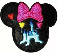"Disney Castle Patch Minnie Mouse Iron On Embroidered Applique 2.50"" X 2.50"""