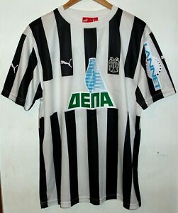 PAOK SALONICA AUTHENTIC FOOTBALL SHIRT BY PUMA LARGE GREECE GREEK JERSEY