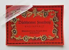Dürkheimer Feuerberg Weinhandlung August Grill Schorndorf Weinetikett Ephemera