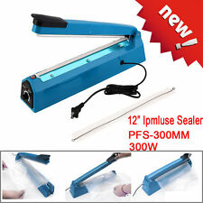 "12"" 300mm Heat Sealing Machine Hand Impulse Sealer with US Plug Wrap Plastic Bag"