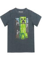 T-shirts, débardeurs et chemises gris à manches courtes pour garçon de 2 à 16 ans en 100% coton