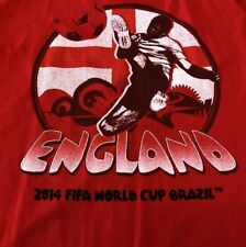 FIFA World Cup Brasil 2014 Logo Red T Shirt Size Large England