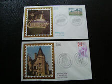 FRANCE - 2 enveloppes 1er jour 1976 (ussel/chateau malmaison) (cy42) french