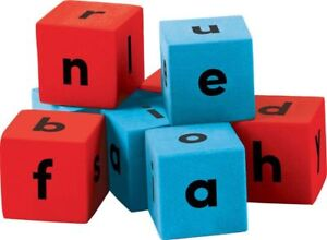 TCR 20704 Foam Alphabet Dice Word Building Reading Games Teaching Supplies