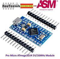 Pro Micro ATmega32U4 5V/16MHz Module with Pin Header ENVIO RAPIDO