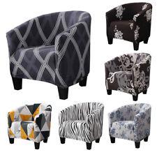 Home Tub Chair Covers Floral Elastic Armchair Single Sofa Chair Cover Slipcover